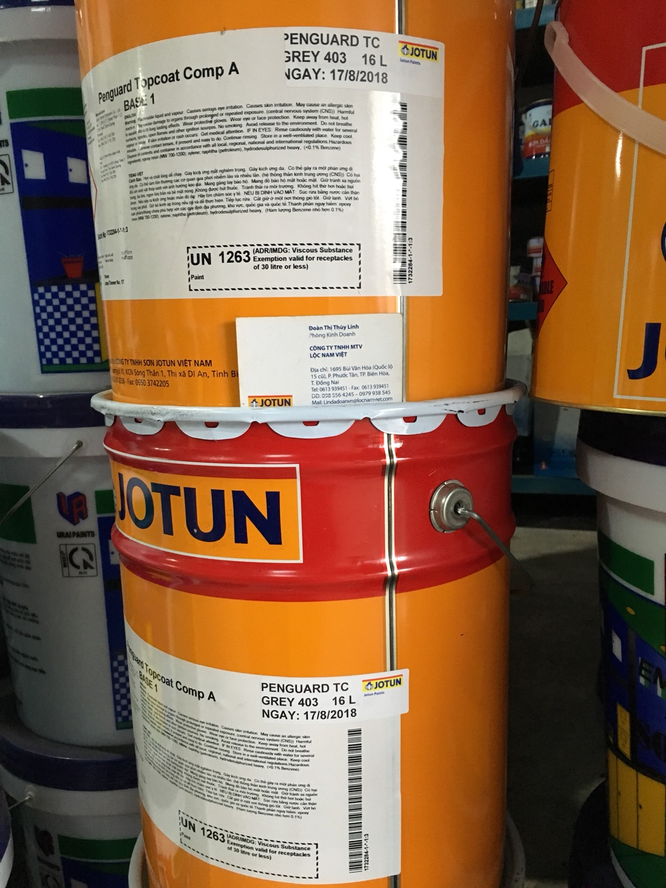 Sơn Epoxy Jotun penguard Topcoat Grey 403 20L (2)