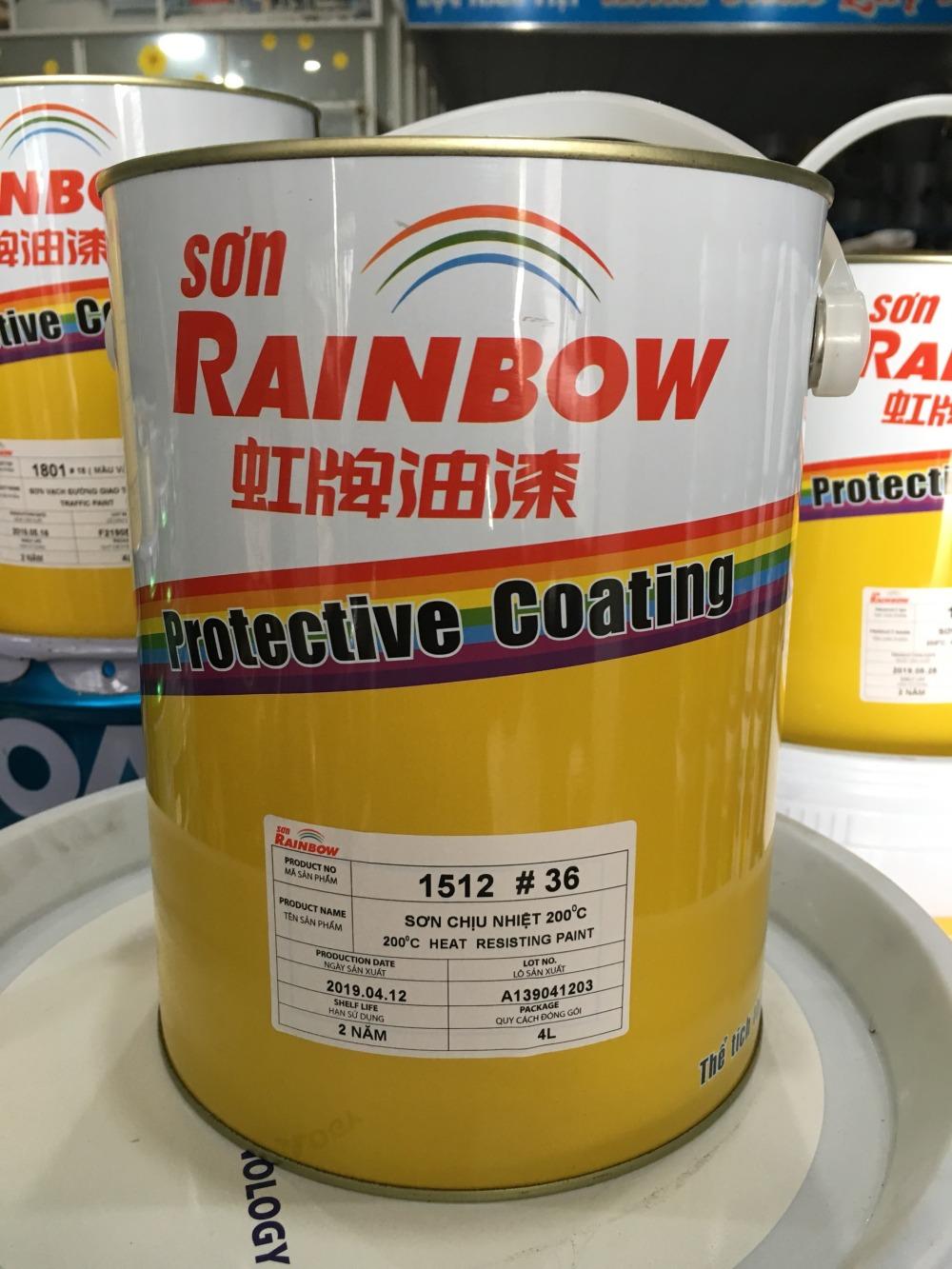 SON CHIU NHIET 200 DO C RAINBOW MAU XAM # 36 - (2)
